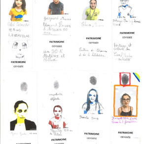 Auto-portraits classe de CM de l'école MLF Renault de Chennai