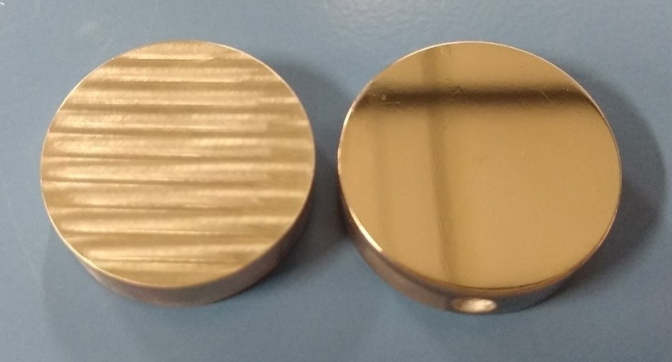 CNC milling leaves tool marks, while electrochemical machining leaves a smooth mirror finish.