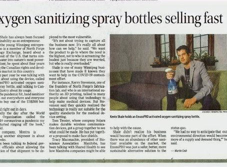 Oxygen sanitizing spray bottles selling fast in Canada
