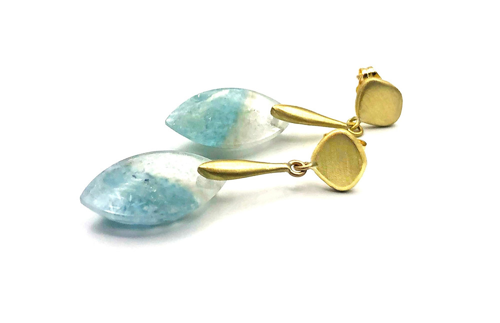 Gilalite in Quartz Azores Earrings in 18k recycled gold