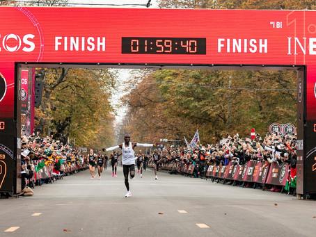 Eliud Kipchoge completa uma maratona em 01:59:40. Histórico!