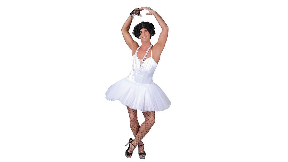 Disfraz de bailarina para hombre.