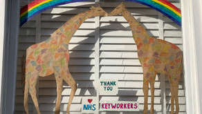 The Little Giraffe House's tribute to all the key workers. Thank you.