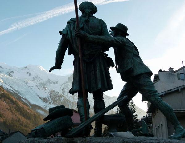 Qué dirían Saussure y Balmat sobre los glaciares del Mont Blanc tan mermados respecto a los de 1760. © Foto E. Ribas