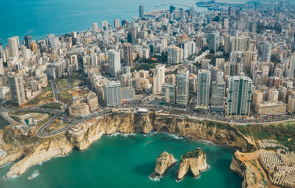 Beirut's skyline in Lebanon