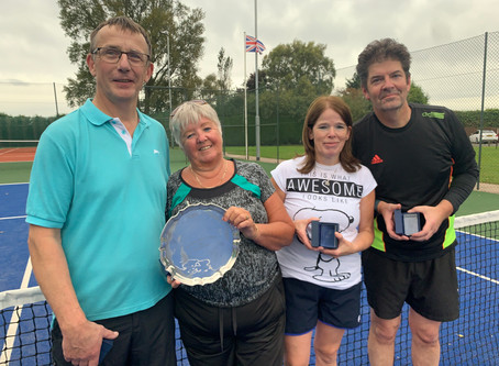 Mixed Doubles One Day Jubilee Tournament on Saturday Sept 28th