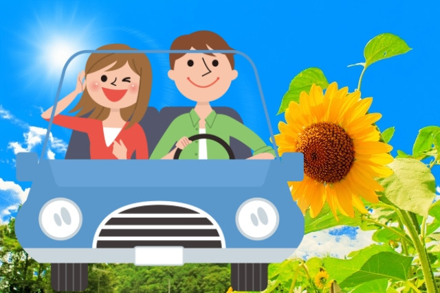 enjoy driving with your partner in a summer day!