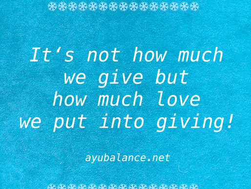 Put Love into giving!