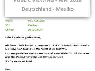 PUBLIC VIEWING WM 2018 (Deutschland - Mexiko)