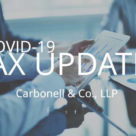 New Tax Deadlines Due to COVID-19