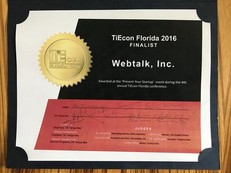 Webtalk named TOP 10 Florida Startup