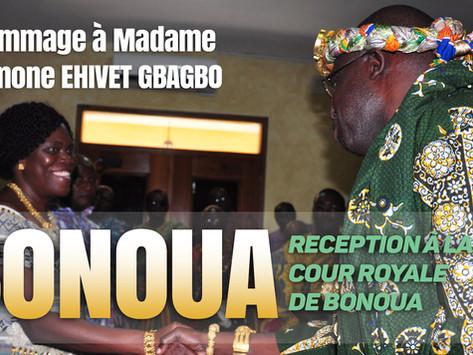 MADAME SIMONE EHIVET GBAGBO REÇUE A LA COUR ROYALE DE BONOUA