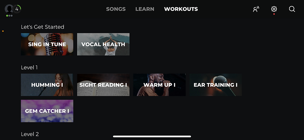 yousician app workouts