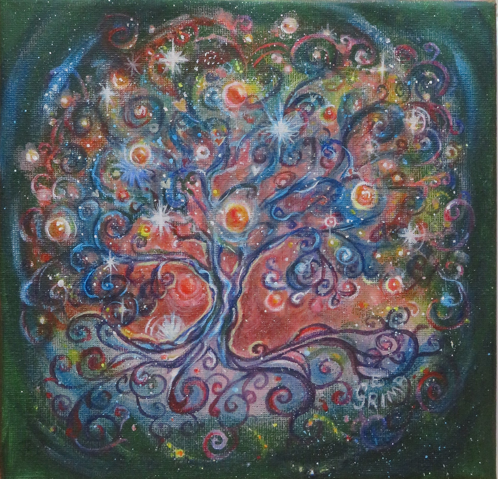 Tree of Answers painting by Little Liz Happy Art