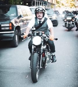 Douglas Thompson blazing through the streets of Coneccticut.