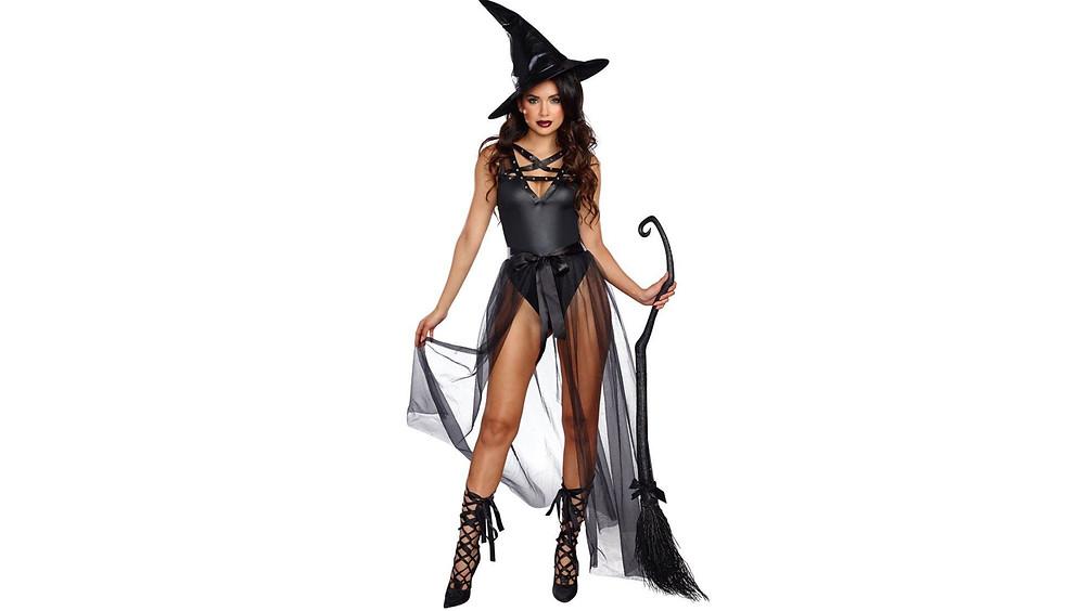 Disfraz de bruja.