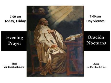 Friday Evening Prayer August 21, 2020