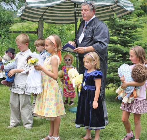 Attorney Dakin performs wedding
