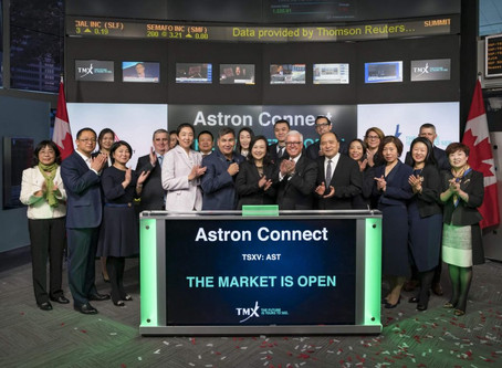 Astron Connect  BlogAstron Connect Inc. Opens the Toronto Stock Exchange