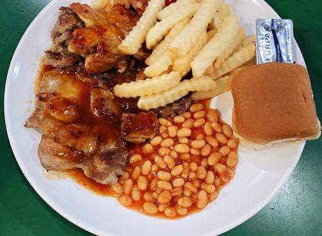 Singapore Hawker Food : Grilled Chicken Chop