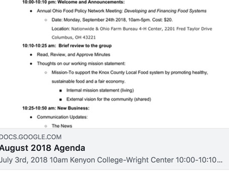 Next Local Food Council Meeting (Knox Co.)