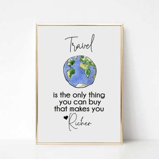 Famous travel makes you richer quote