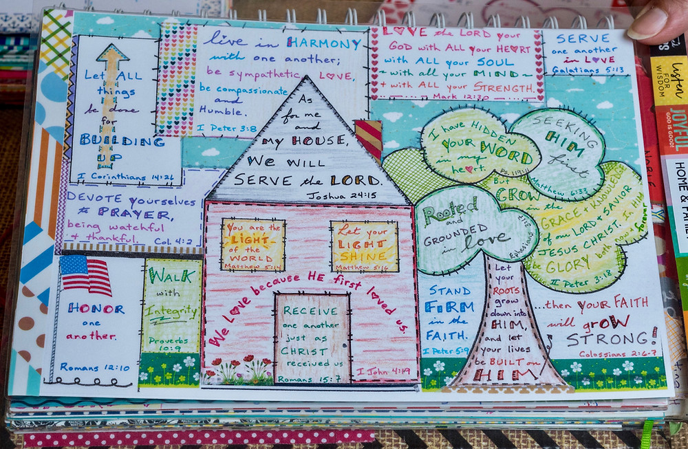 Home page in my Bible Quilt journal