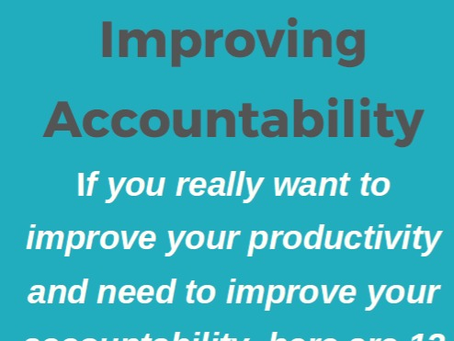 12 Tips for Accountability