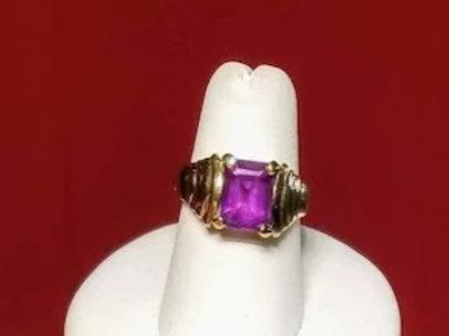 14K Gold Amethyst Ring