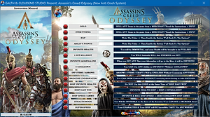 cloudend studio, galth, assassin's creed odissey, 1.5.0, ubisoft, cheat, trainer, code, mod, software, steam, pc, youtube, google, facebook, cheat engine, cheat table, free,  script, tool, gameplay, game, dlc, unlock, 100%, best weapon, items, rpg, all trophy, achievements, gold, infinite health, exp, skills, max, lvl, level, invincible, immortal, cheat happens, orichalcum, drachma, cheat happens, ign, multiplayer.it, eurogamer, game source, tricks, engaños, トリック, 騙します, betrügen, trucchi, complete guide, gta, fortnite, playerunknown's battlegrounds, counter strike, 27/08/2019