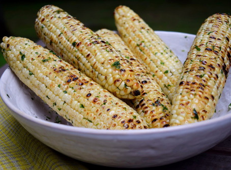 Grilled Corn with Herb Butter