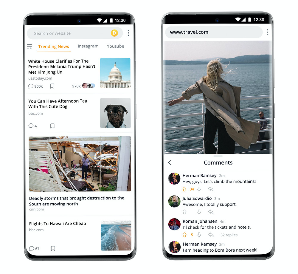 Fulldive social browser mobile app