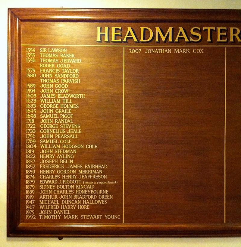 Headmasters of Royal Grammar School Guildford
