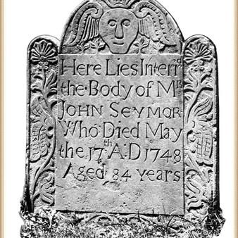 John Seymour II (1639-1748) burial at Hartford, CT
