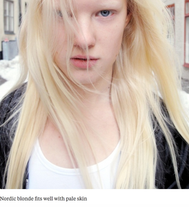Nordic blonde with pale skin