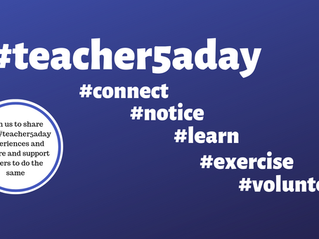 My #teacher5aday pledge
