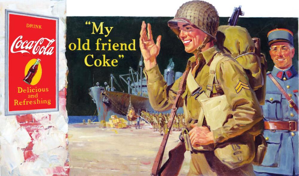 Anuncio de Coca-Cola: Segunda Guerra Mundial.