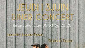 Diner Concert à la Cantine du Pêcheur