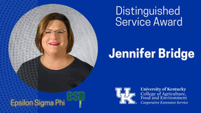 Jennifer Bridge receives national extension award