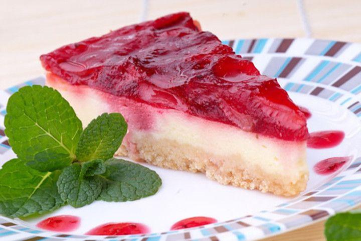 Recept na zdravý jahodový cheesecake