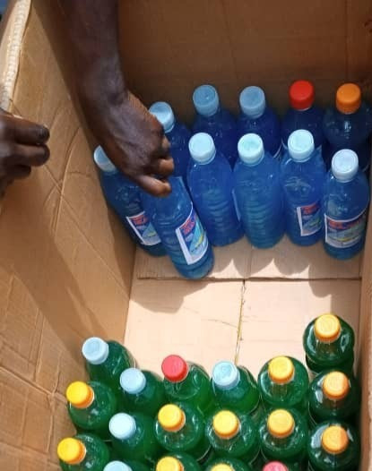 Eco Brixs is recycling empty plastic bottles by filling them with soap to be distributed in the community to encourage people to wash their hands