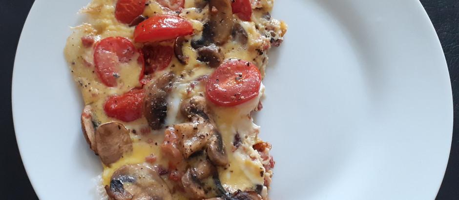 Omelett mit Pilzen und Tomaten               (1-2 Portionen)