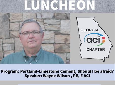 ACI GA Chapter to host GRMCA Member Wayne Wilson, Holcim