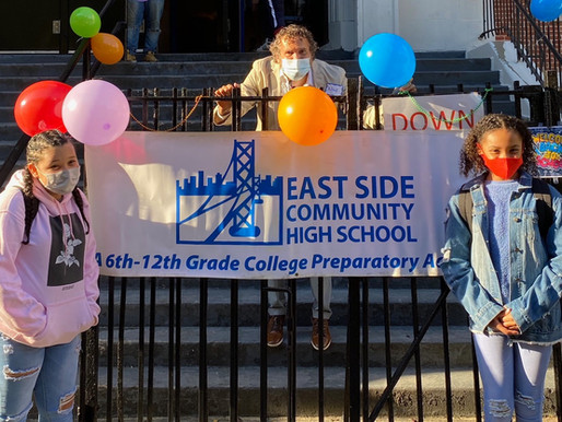 Cold Classrooms and Warm Community: The East Side Student Blended Learning Experience