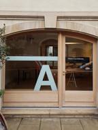 vitrine architecte logo adhésif