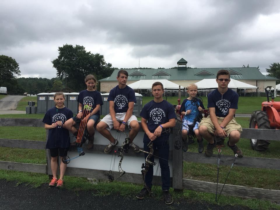 Raising Our Tribe Archery team at the harford county 4-h farm fair