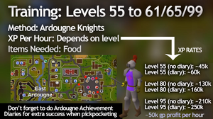 best thieving xp osrs