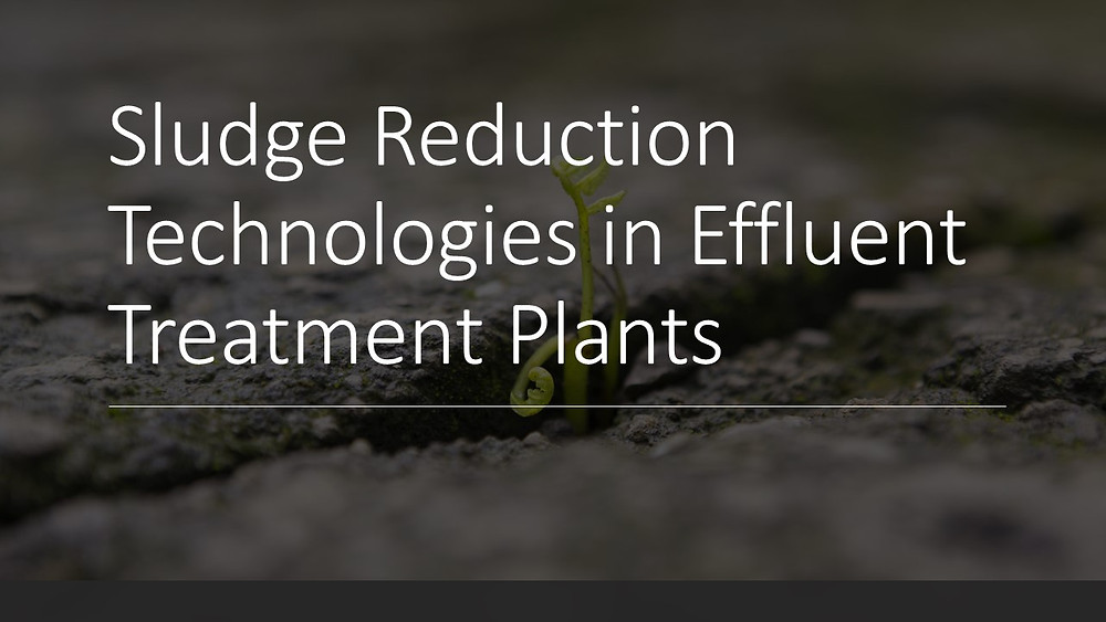 Sludge Reduction Technologies in Effluent Treatment Plants