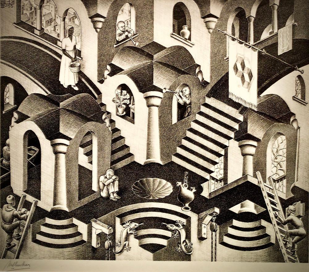 M.C. Escher Drawing of a labyrinth