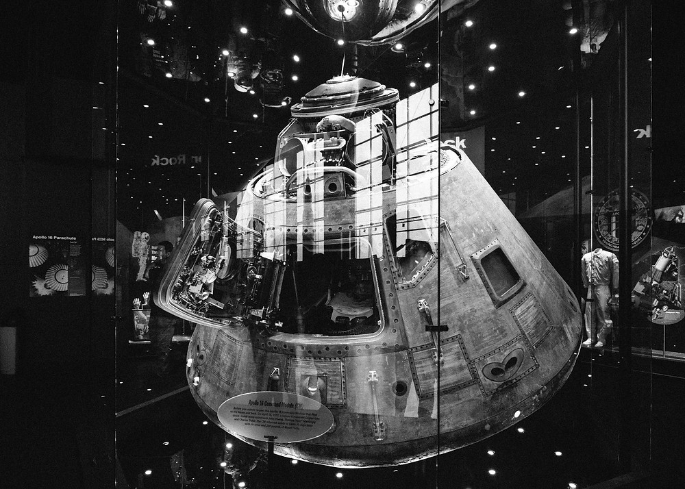 Front view of Apollo 16 command module